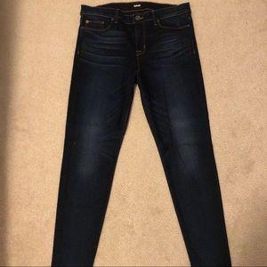 Hudson Nico Mid-Rise Super Skinny Ankle Jeans, 31